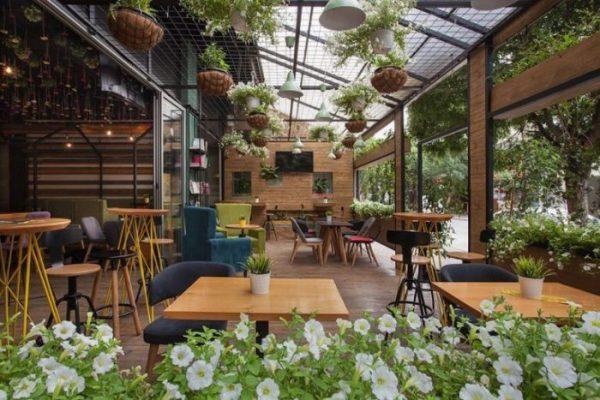 Mô hình quán cà phê sân vườn đẹp