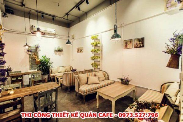dịch vụ thi công thiết kế quán cafe