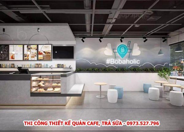 dịch vụ thi công thiết kế quán cafe, trà sữa, trang trí tết, mô hình mút xốp