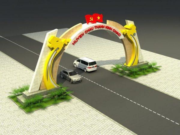thiết kế trang trí cổng chào