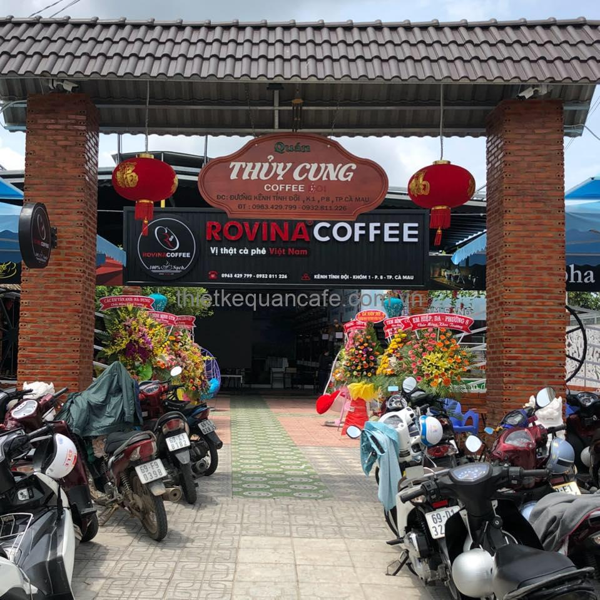 Quán cafe cá KOI Cà Mau