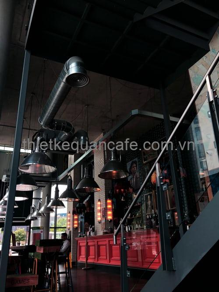 Phong cách thiết kế quán cafe Industrial
