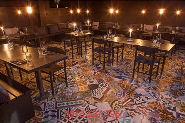 Thiết kế quán Cafe phá cách mới lạ và phối hình giữa các họa tiết gạch