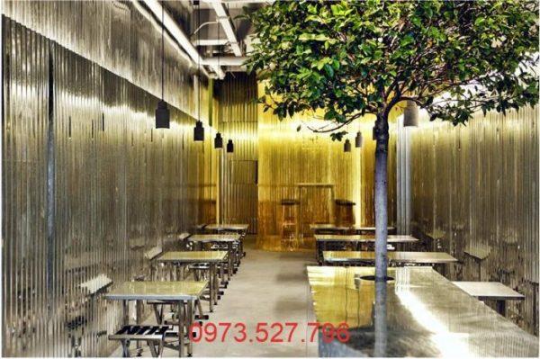 Cafe phong cách Túp lều kim loại