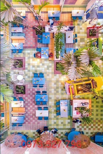 Thiết kế quán Cafe phong cách kết hợp giữa nhiệt đới và cổ điển phá cách